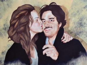 Emiliano-Stella-Charlotte's kiss-tecnica-mista-su-tessuto-60x80cm-2014