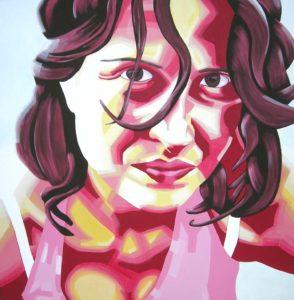 Emiliano-Stella-Chiara Lucchese.ritratto - 100x100cm - acrylic on canvas-2006