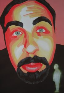Emiliano-Stella-Grande-grosso-e-ciula-acrilico-su-carta-incolalta-su-legno- 35x50cm-2005