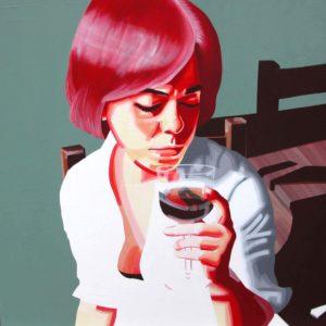 Emiliano-Stella-Lacryma Christi-tecnica-mista-su-tela-100x100cm-2006