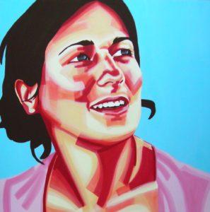Emiliano-Stella-Lucia Aleccia-acrilico-su-tela- 100x100cm - 2007