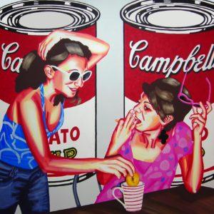 Emiliano-Stella-Pop-Numis.-omaggio-a-Andy-Warhol---acrilico-su-tela-100x100cm-2009