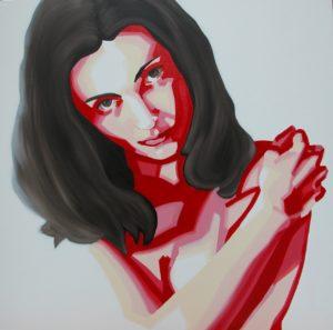 Emiliano-Stella-ValentinAndrogina -tecnica-mista-su-tela-100x100cm -2006