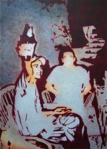 Emiliano-Stella-la-mia-generazione-mrAce-trash-show-profilo-alcolico-tecnica-mista-su-tela-50x70cm-2008