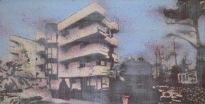 Emiliano-Stella-paesaggio-urbano2-mista-su-tessuto-20x40cm-2012