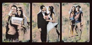 Emiliano-Stella-Daniele-e-Despoina-wedding-couple-tecnica-mista-su-tela-incollata-su-legno-98x48-cm-2019