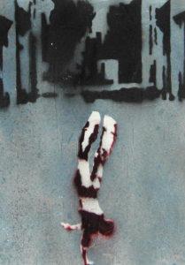 senza titolo 25 - tratto da Una pausa..riflessiva - dvd colore sonoro 2006 - mixed on paper - 35x50cm