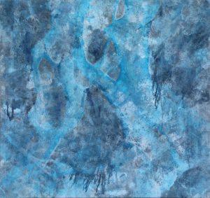 emiliano-stella-microsfera-pe-fiumi-scorrono-sul-ghiaccio-tecnica-mista-su-tessuto-114x120cm-2019